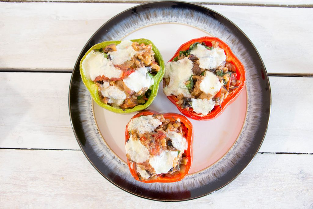 Stuffed peppers wild rice 6