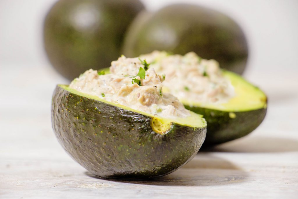 Tuna salad avocado bowls 2