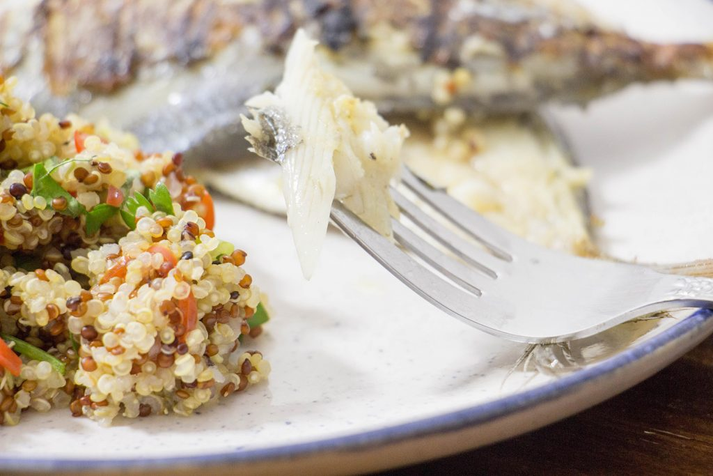 griddled butterfish and quinoa
