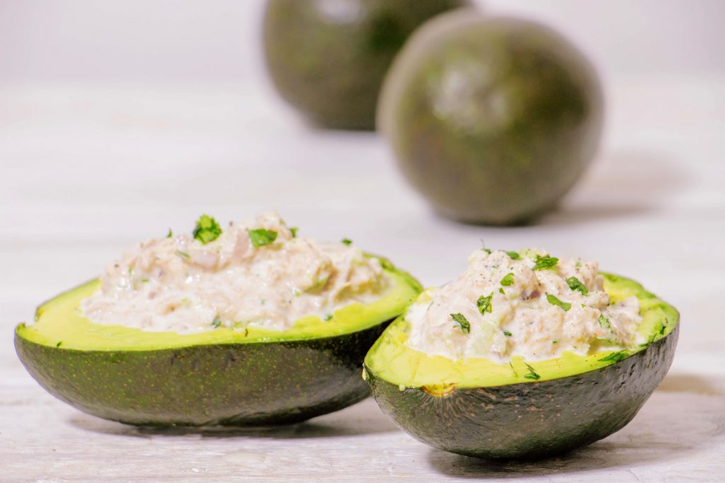 tuna salad avocado bowls 4